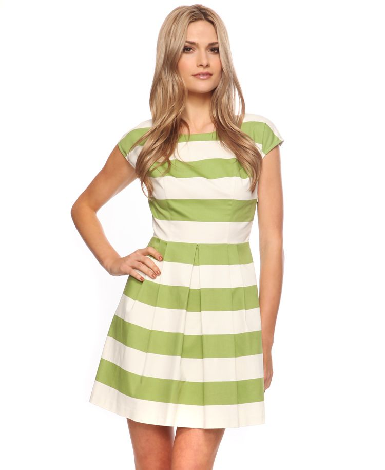 Classic Striped Woven Dress - perfect for summer! just wear a short pair of shorts under it.