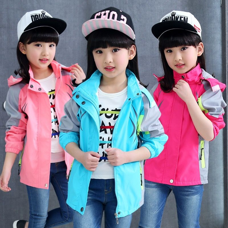 608171b0954d Click to Buy    2017 Spring Autumn Style Girls Kids Hooded Casual ...