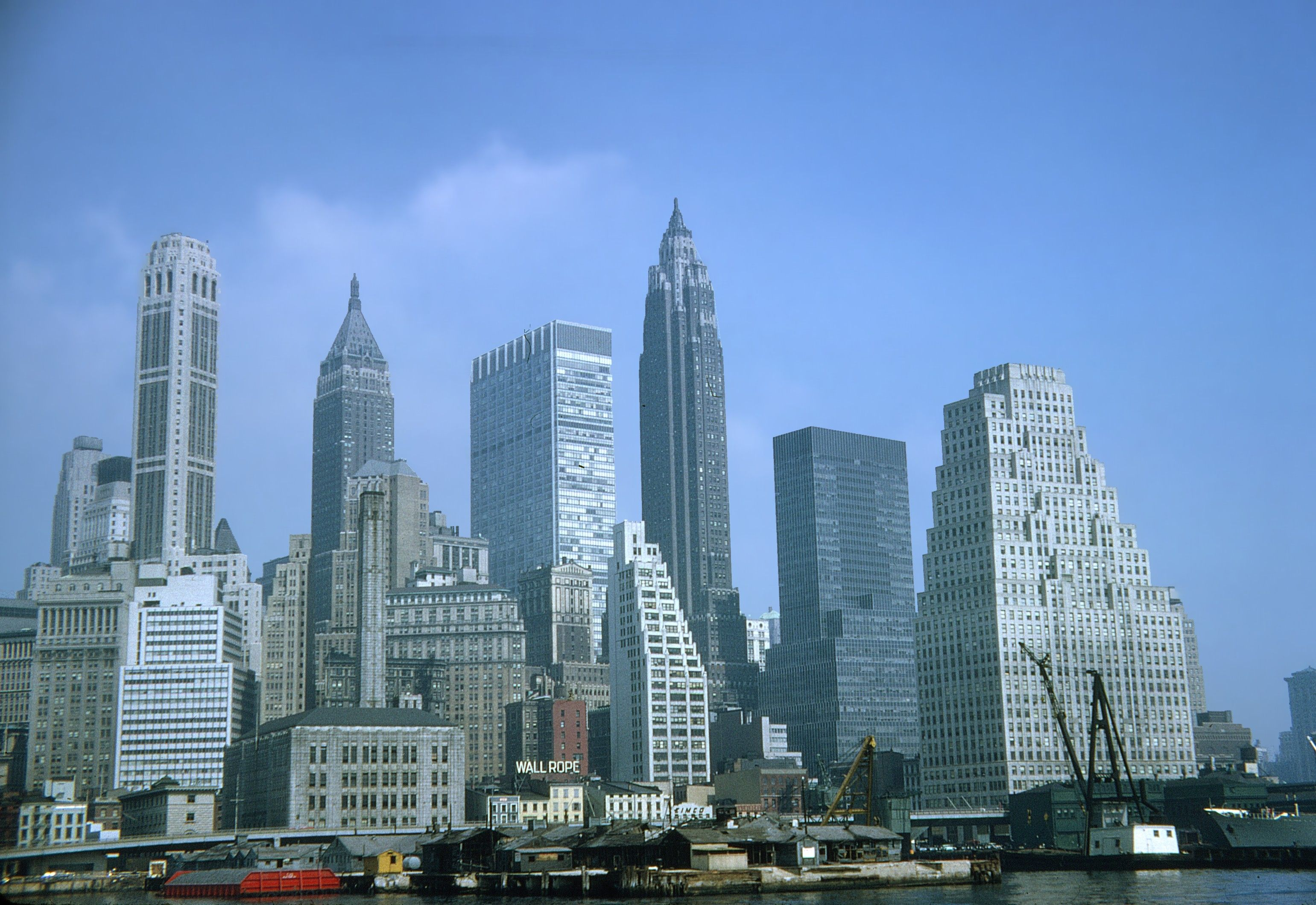 Minecraft project downtown manhattan in 1954 photo for Building under construction insurance