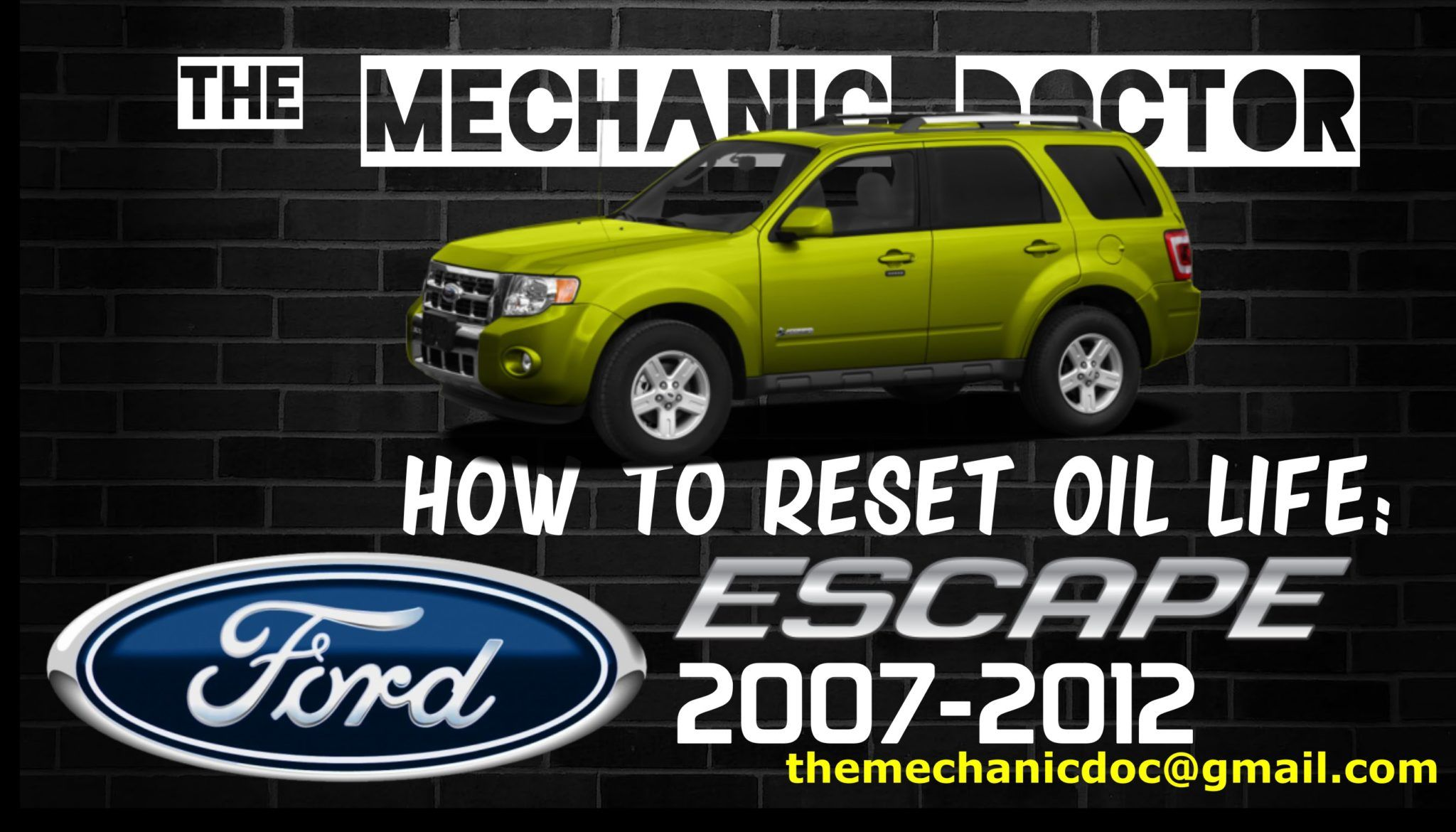 How To Reset Oil Life Ford Escape 2007 2008 2009 2010 2011 2012 With Images Ford Escape