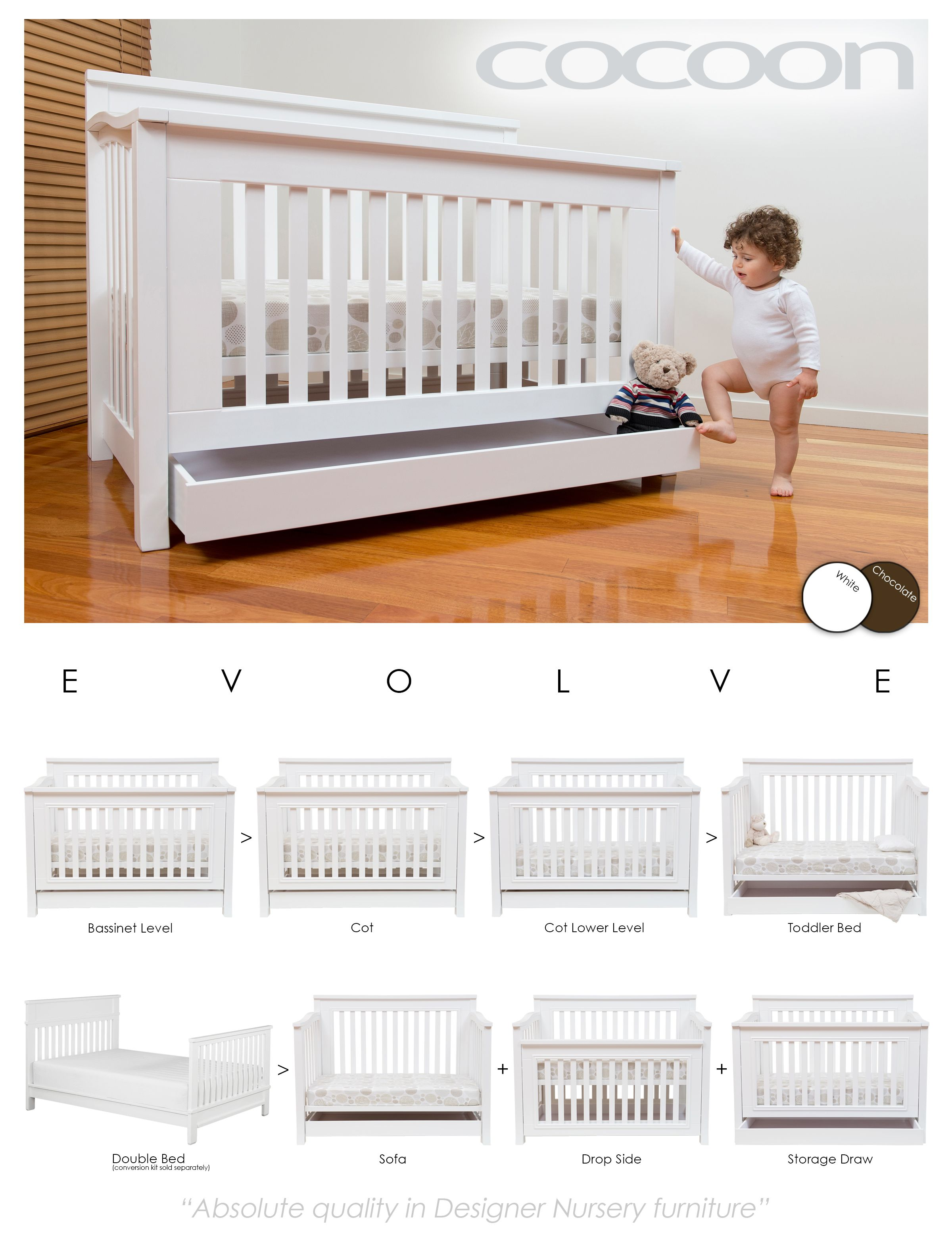 Baby cribs york region - The Award Winning Cocoon Flair