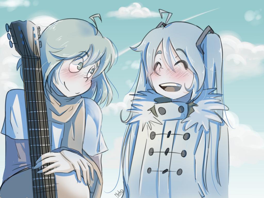 Gumi and Miku_Smile Again_#happyvalentinesday by MelanieXD1391.deviantart.com on @DeviantArt