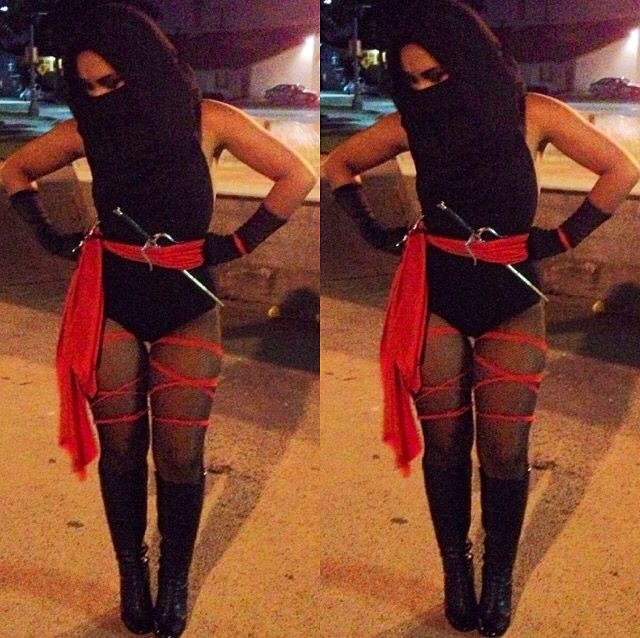 DIY Last Minute Ninja Costume! Girl Ninja | Halloween | Costume | | DIY Halloween Costumes ...