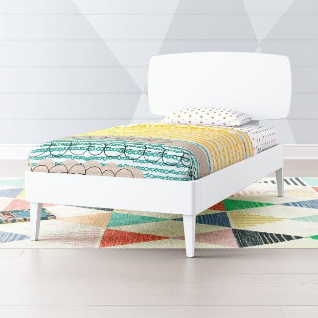 Best Ellipse White Mid Century Twin Bed In 2020 White Metal 400 x 300