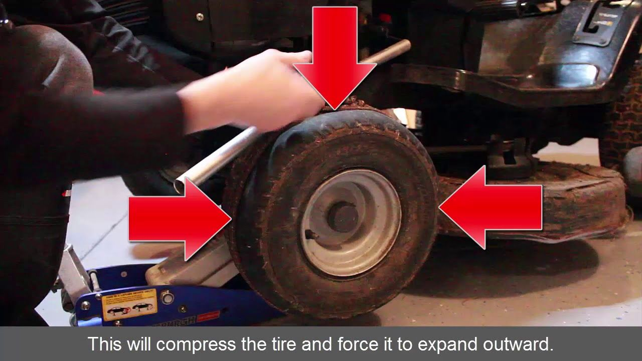How to Refill Riding Lawn Mower Tire That Fell Off Rim In