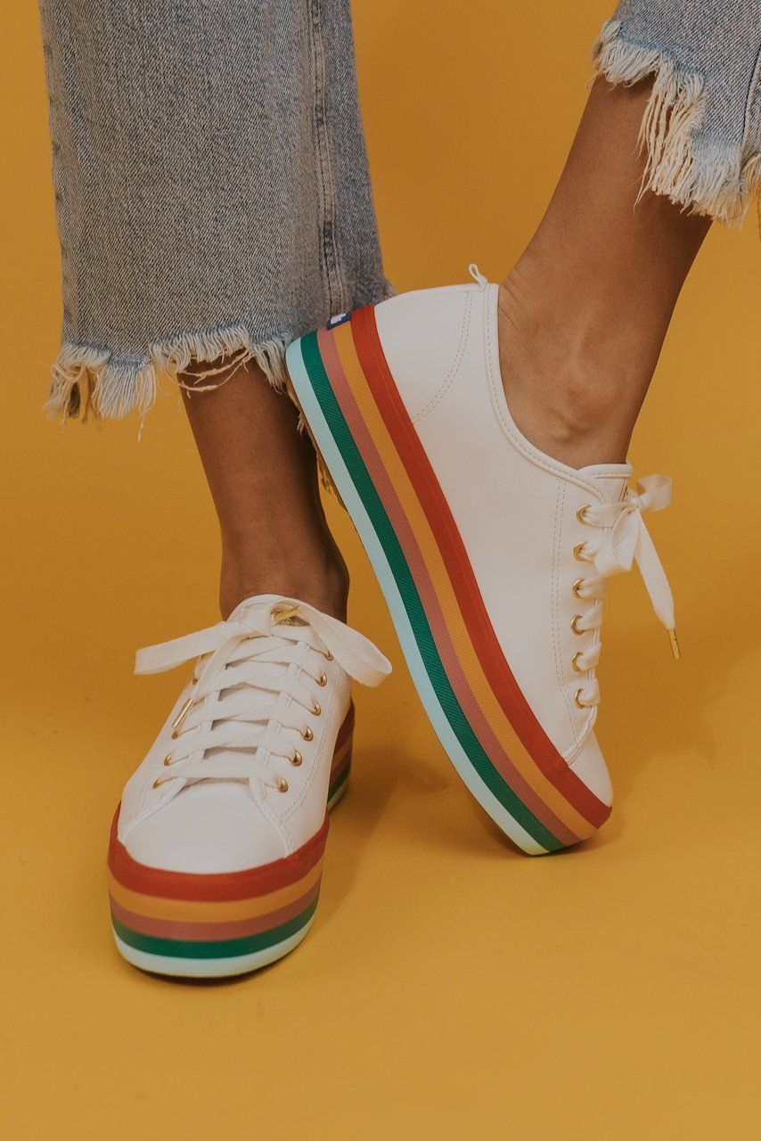 Rainbow sneakers, Spring fashion shoes