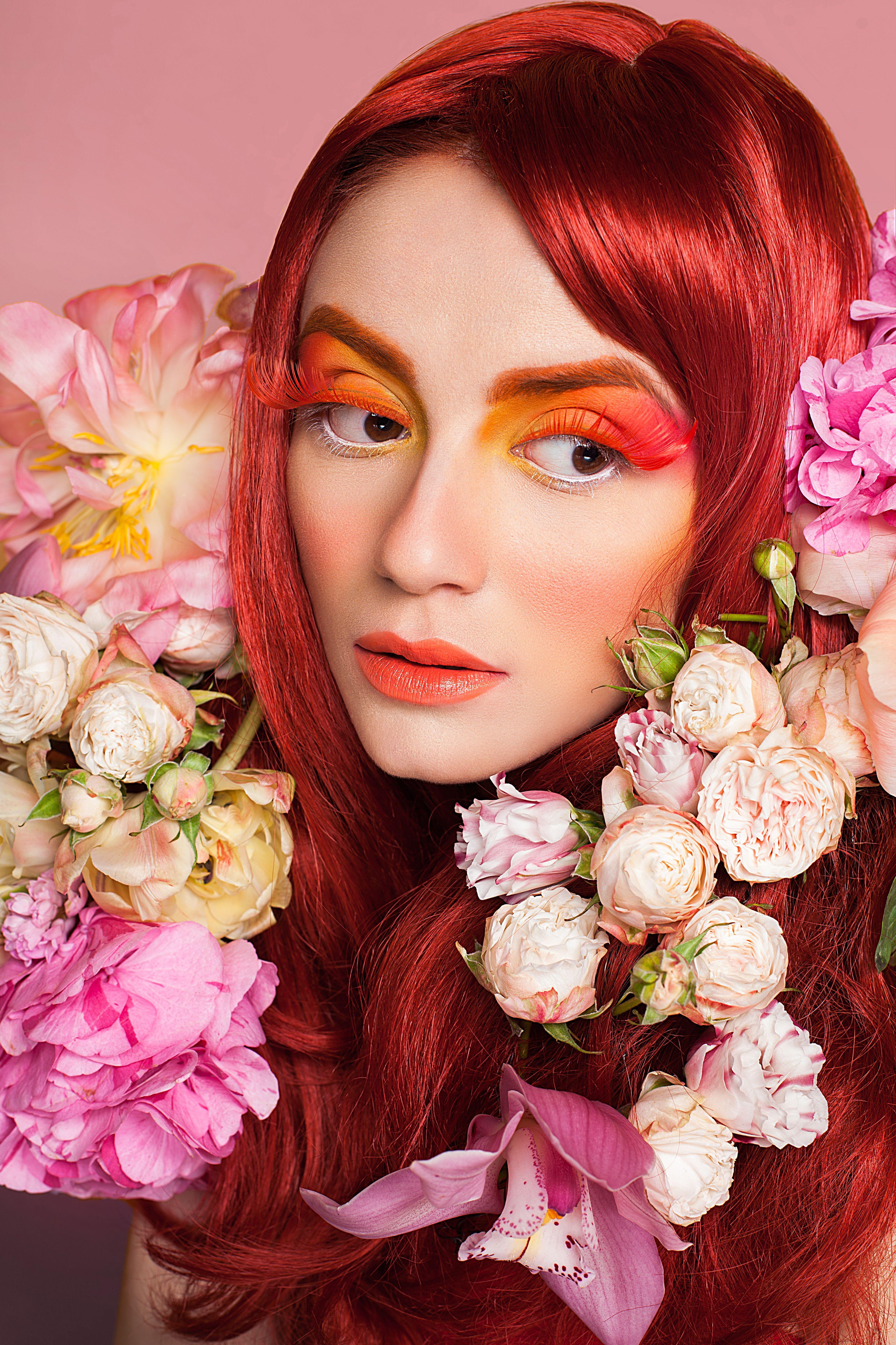 Dmitry turcan floral designer head piece flowers colors