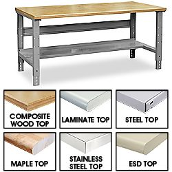Genial Work Bench, Industrial Packing Tables   ULINE, For Studio Workbench