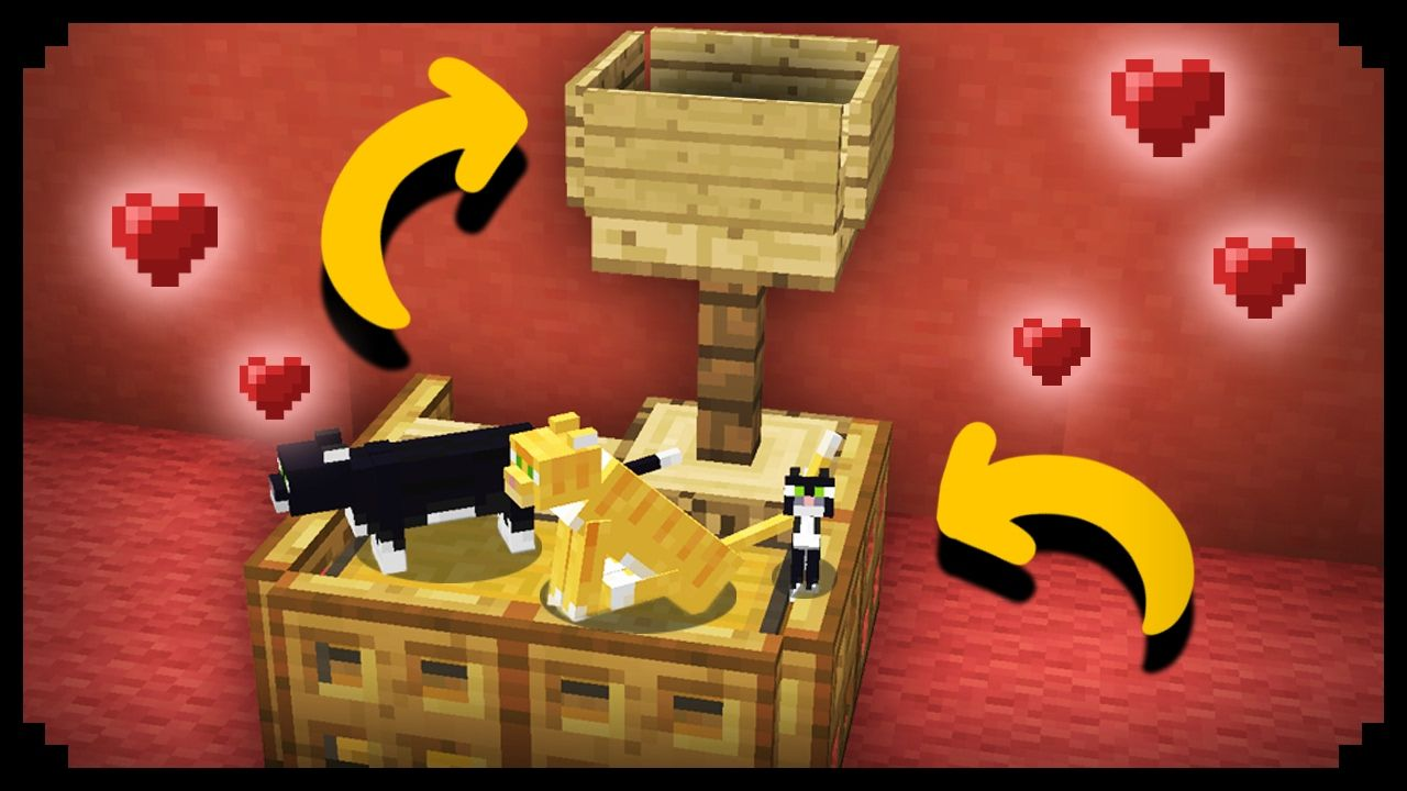 Minecraft Working Cat House Minecraft Creations Minecraft