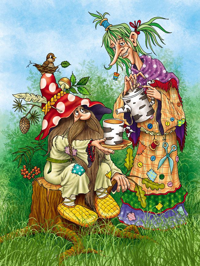 Кикимора и баба яга играют в карты как прошить на радугу тв голден интерстар 870