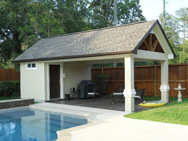 Small Pool House Plans With Bathroom