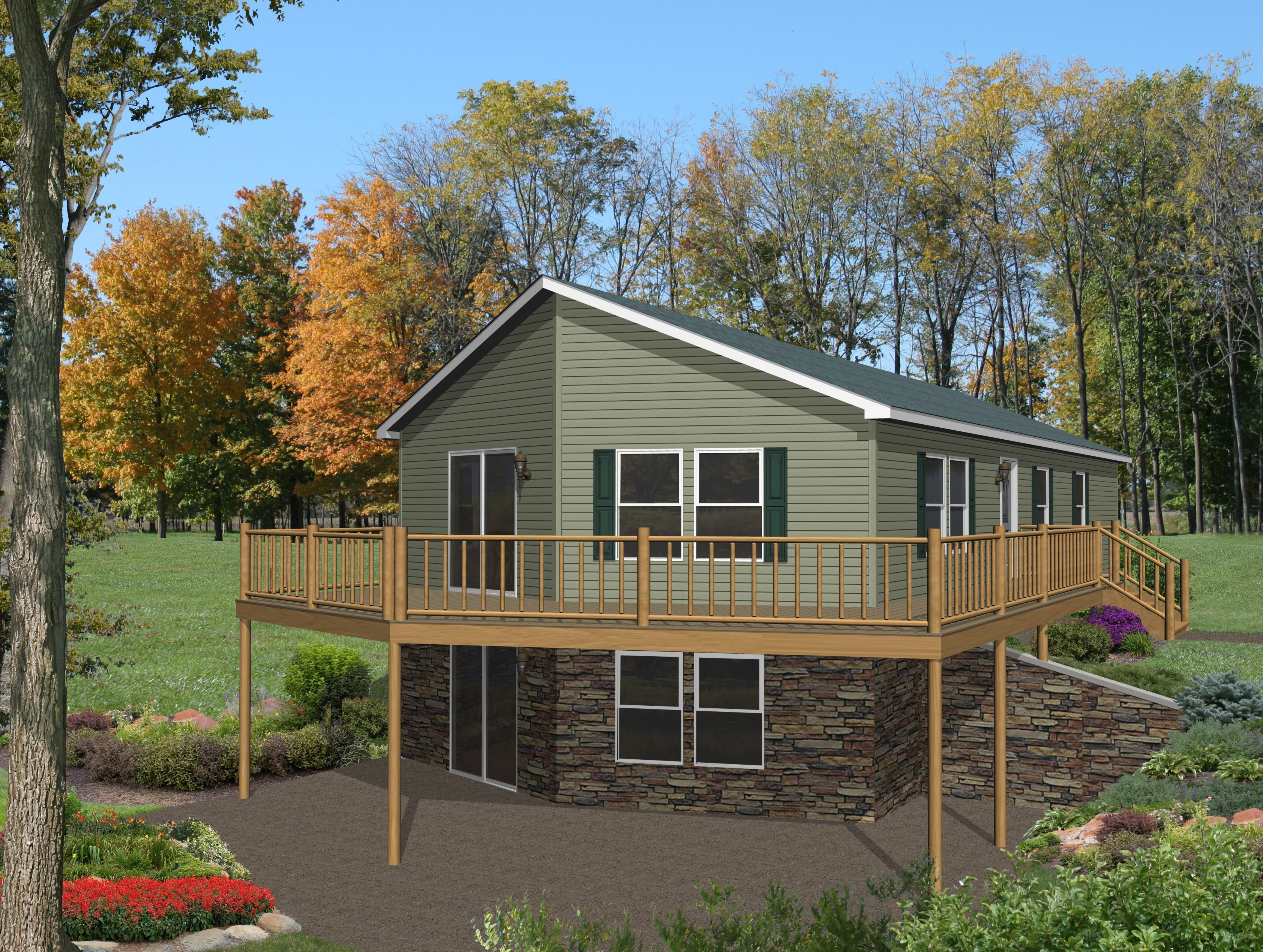 Appleton rg751a commodore homes of indiana grandville for Country home plans with walkout basement