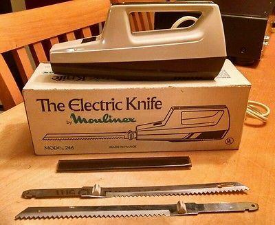 Vintage Moulinex Electric Carving Knife In Original Box Model 246 Made In France Carving How To Make Original Box