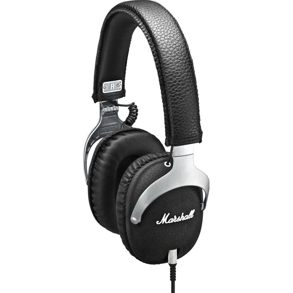 Marshall MONITOR Over-Ear Headphones w// Microphone Black New