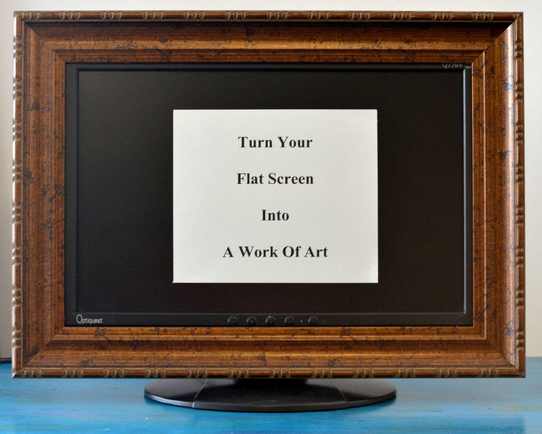 flat screen tv frame or computer monitor frame 40 00 via etsy