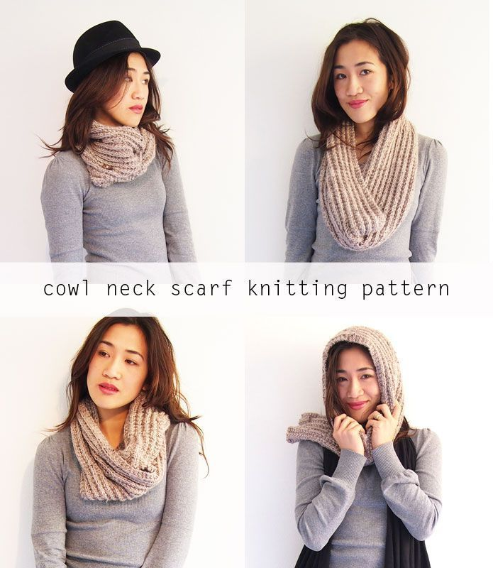 Free knitting pattern: Cowl neck convertible scarf | Scarves ...