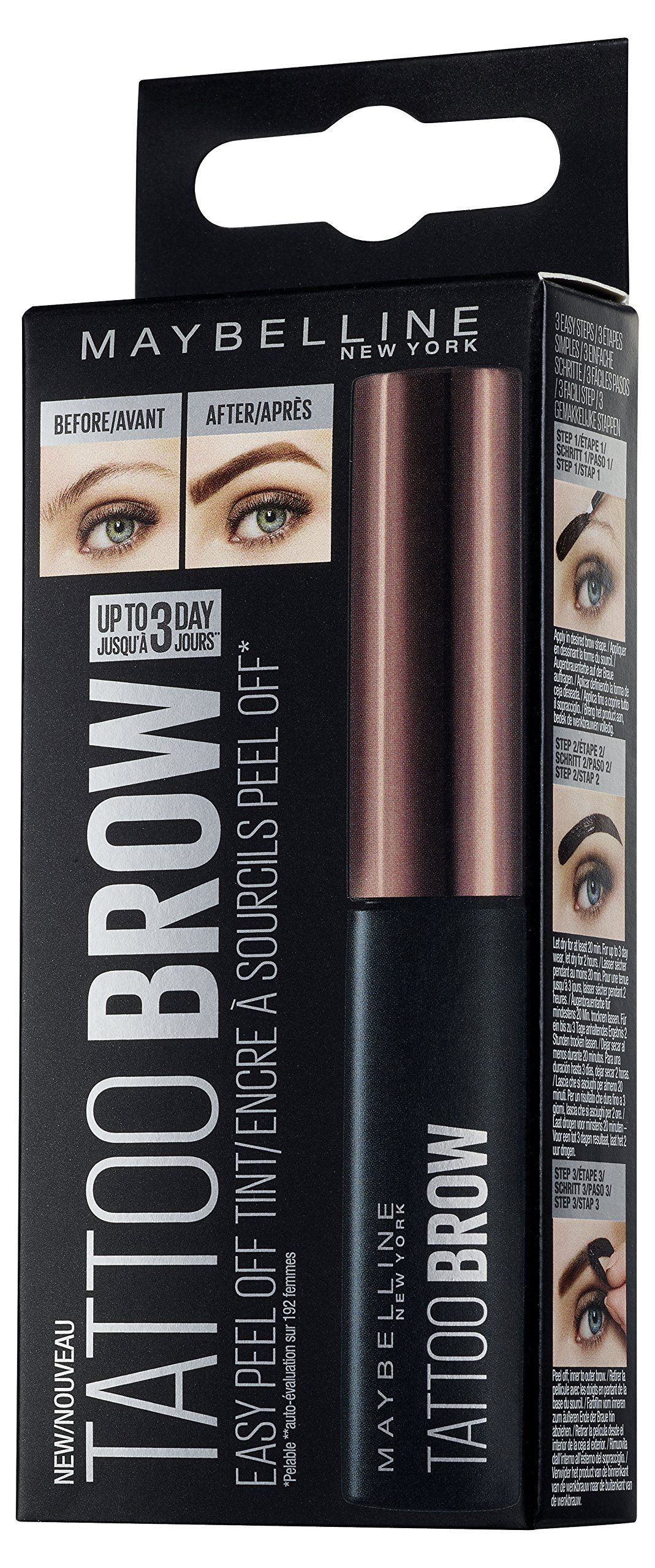 65e9dce9c8c Maybelline New York Tattoo Brow Tint Dark Brown 4.9ml *** Continue to the  product at the image link. (This is an affiliate link) #EyebrowColor