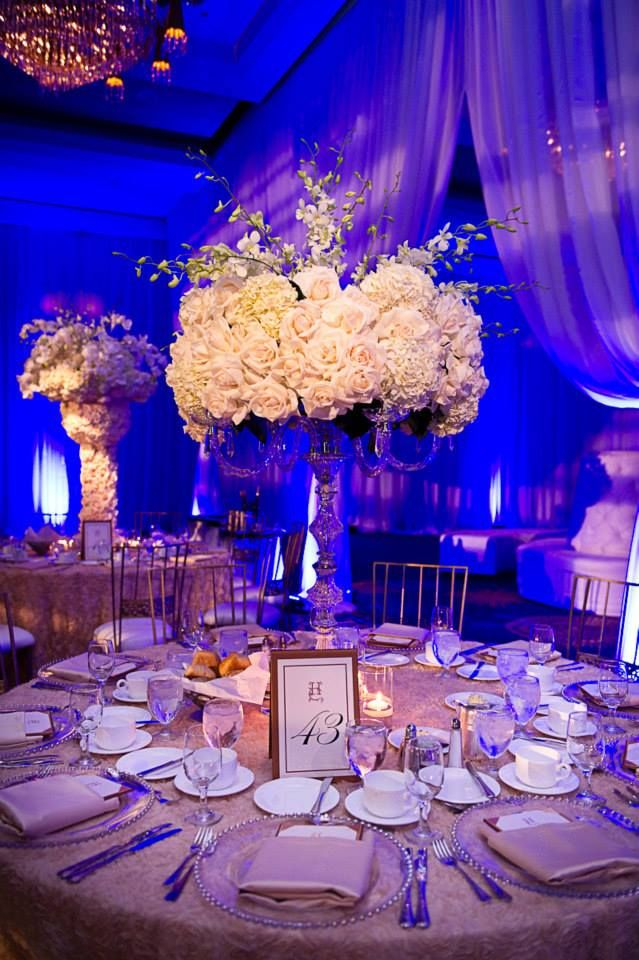 Classic-Meets-Contemporary Wedding Reception Ideas. To see more: wedding.com/2014/05/21/classic-meets-contemporary-wedding-reception-ideas/ #wedding #weddings #reception #centerpiece #ceremony Featured Event Design: Sonia Sharma Events;
