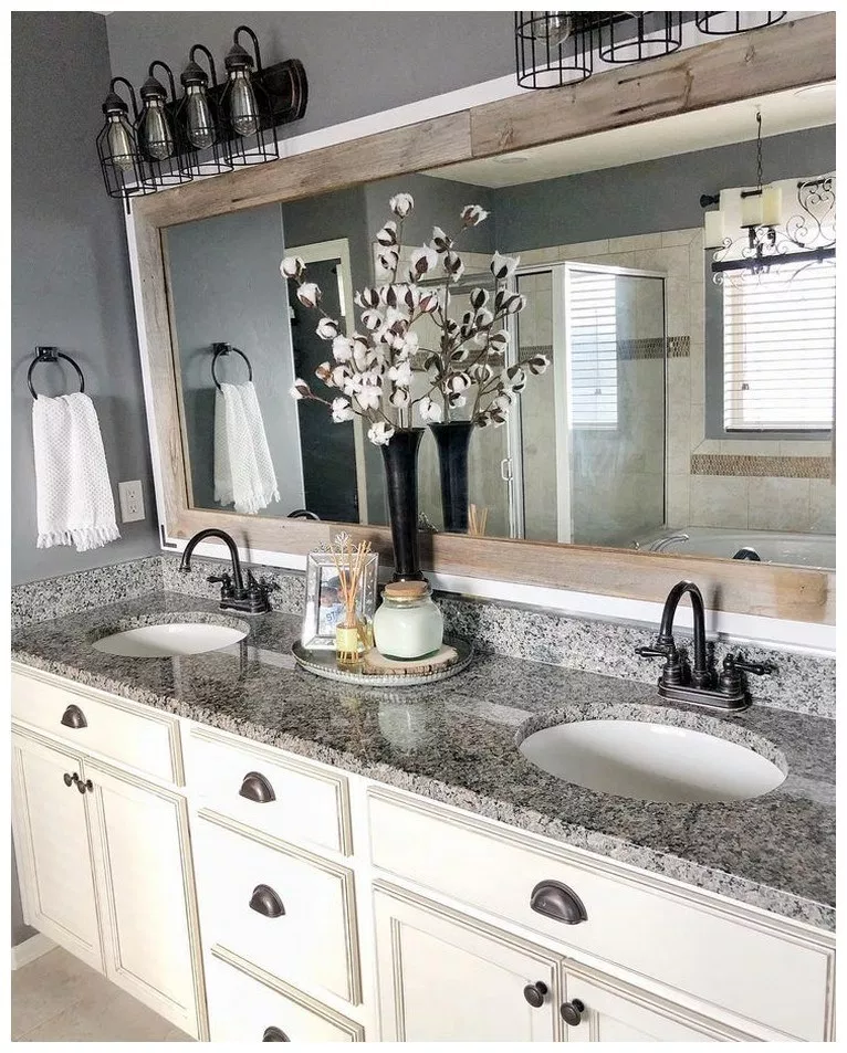 43 beautiful farmhouse bathroom decor ideas on beautiful farmhouse bathroom shower decor ideas and remodel an extraordinary design id=28795