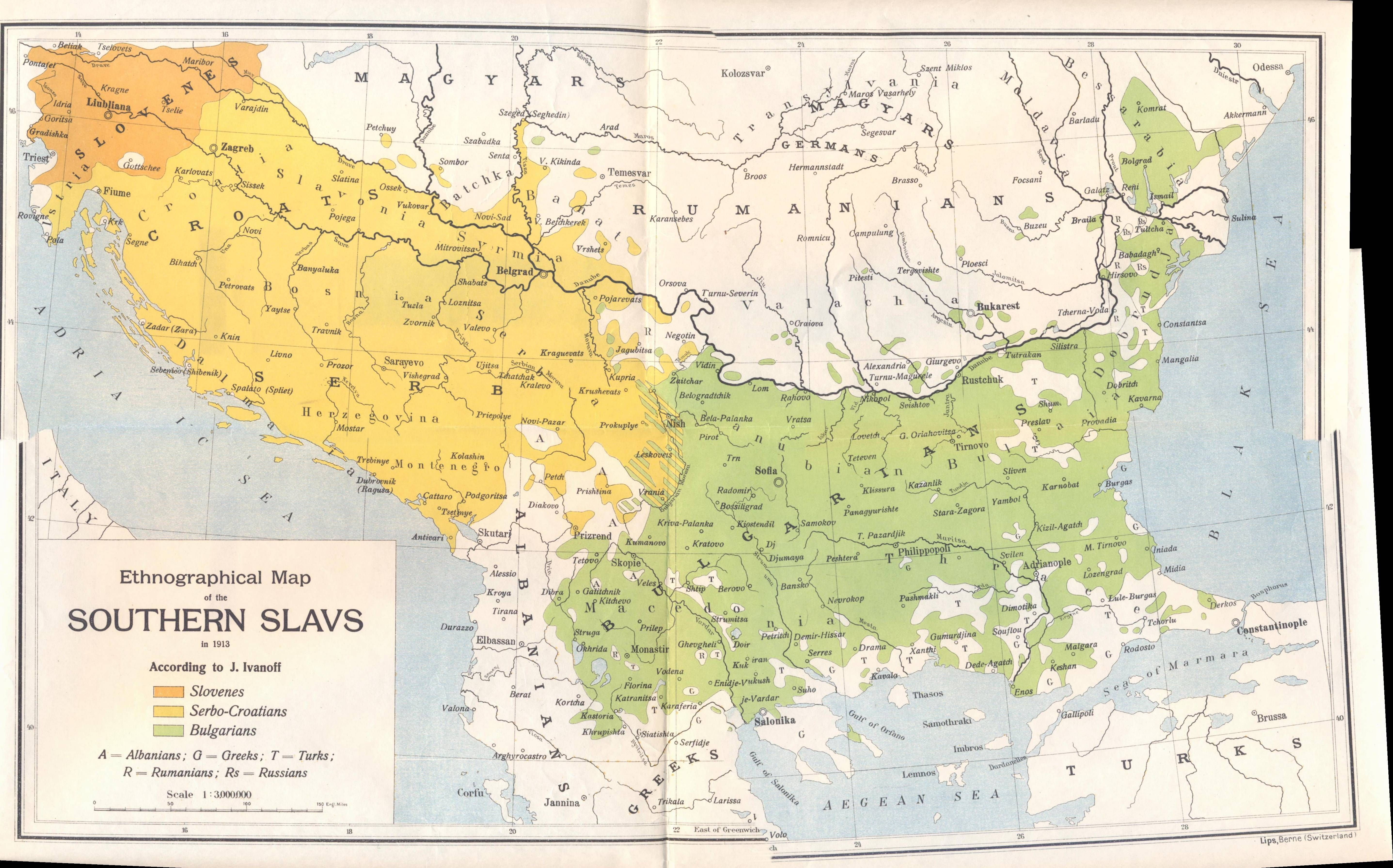 Ethnographical map of the Southern Slavs (1913) | Sublime Maps ...