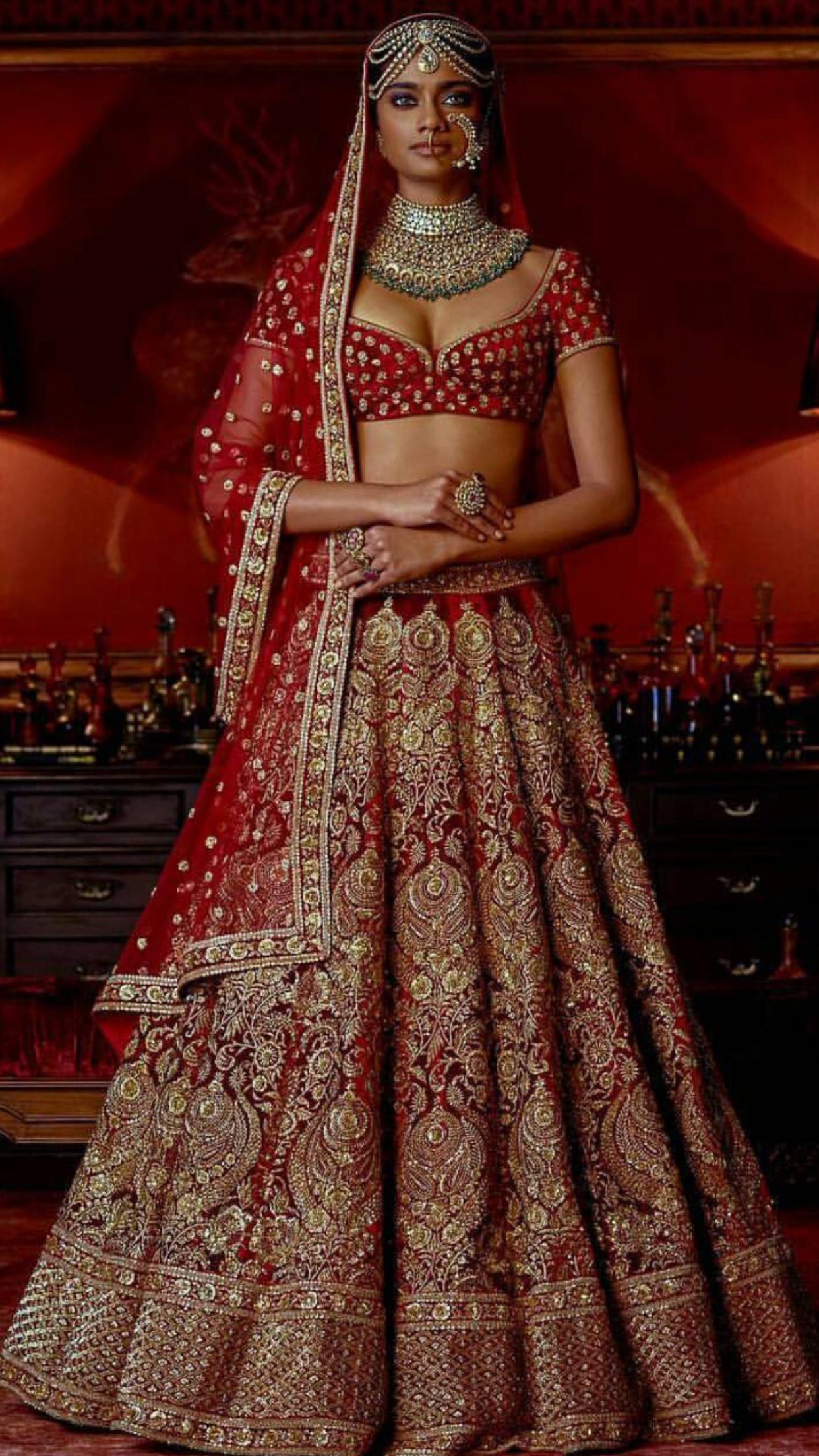 d072bb9f3c Indian bridal lehenga by Sabyasachi Wedding Wear, Sikh Wedding, Indian  Wedding Outfits, Bridal