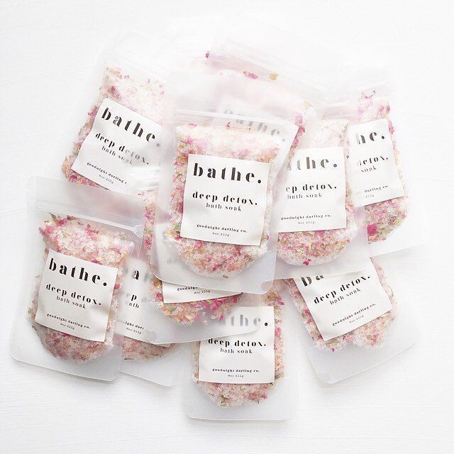 Deep detox. bath soak #soappackaging