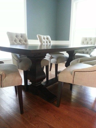Find This Pin And More On Dining Room. Posts About Cameron Trestle Table  Ethan Allen ...