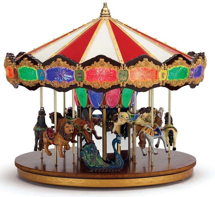 mr christmas grand jubilee light up musical carousel