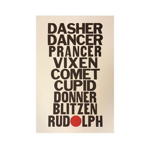 Dasher, Dancer Print