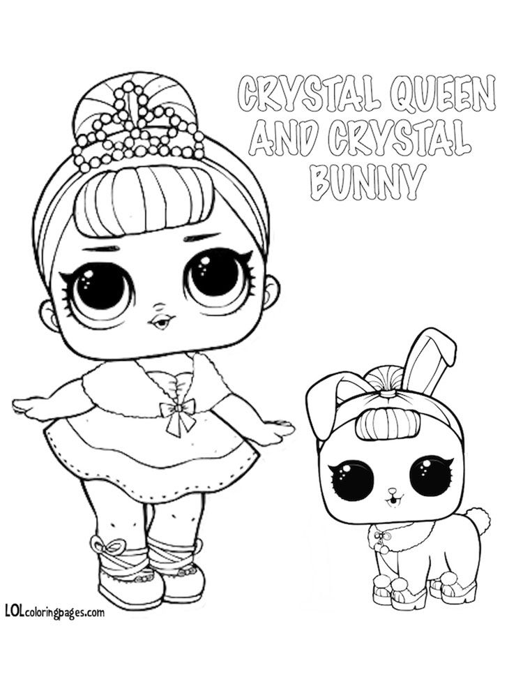 Crystal Queen And Bunny Jpg 750 980 Pixels Coloriage Kawaii