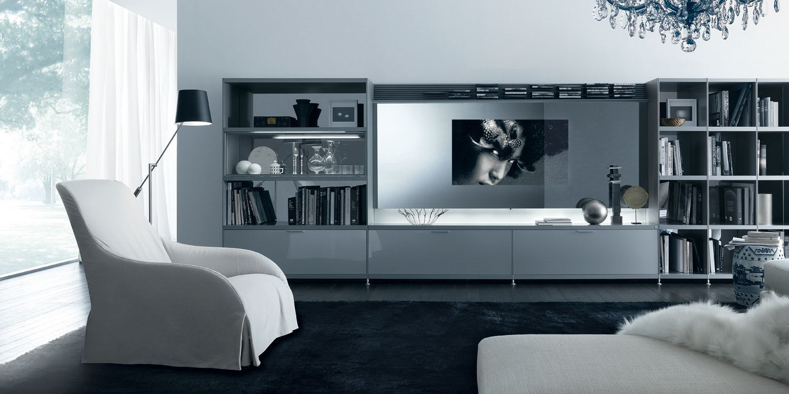 Creative Modern TV Stand Ideas 2015 Remarkable Design Living Room Library Bookcase Tv