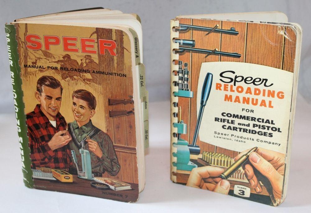 Vintage Speer Reloading Manual, No  3 (1959) and 7 (1966