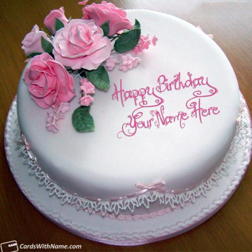 Stylish Name Editing Online On Birthday Cake