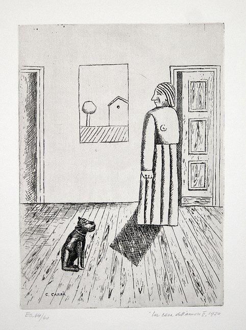 Carlo Carrà - La Casa dell' Amore (The House of Love), 1922.