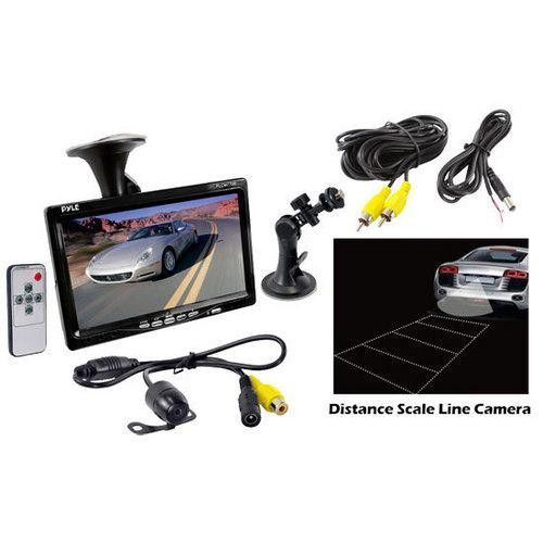 Rear View Backup Camera and Monitor System with 7'' LCD Display Screen Waterproof Night Vision Camera Distance Scale Lines Parking/Reverse Assist