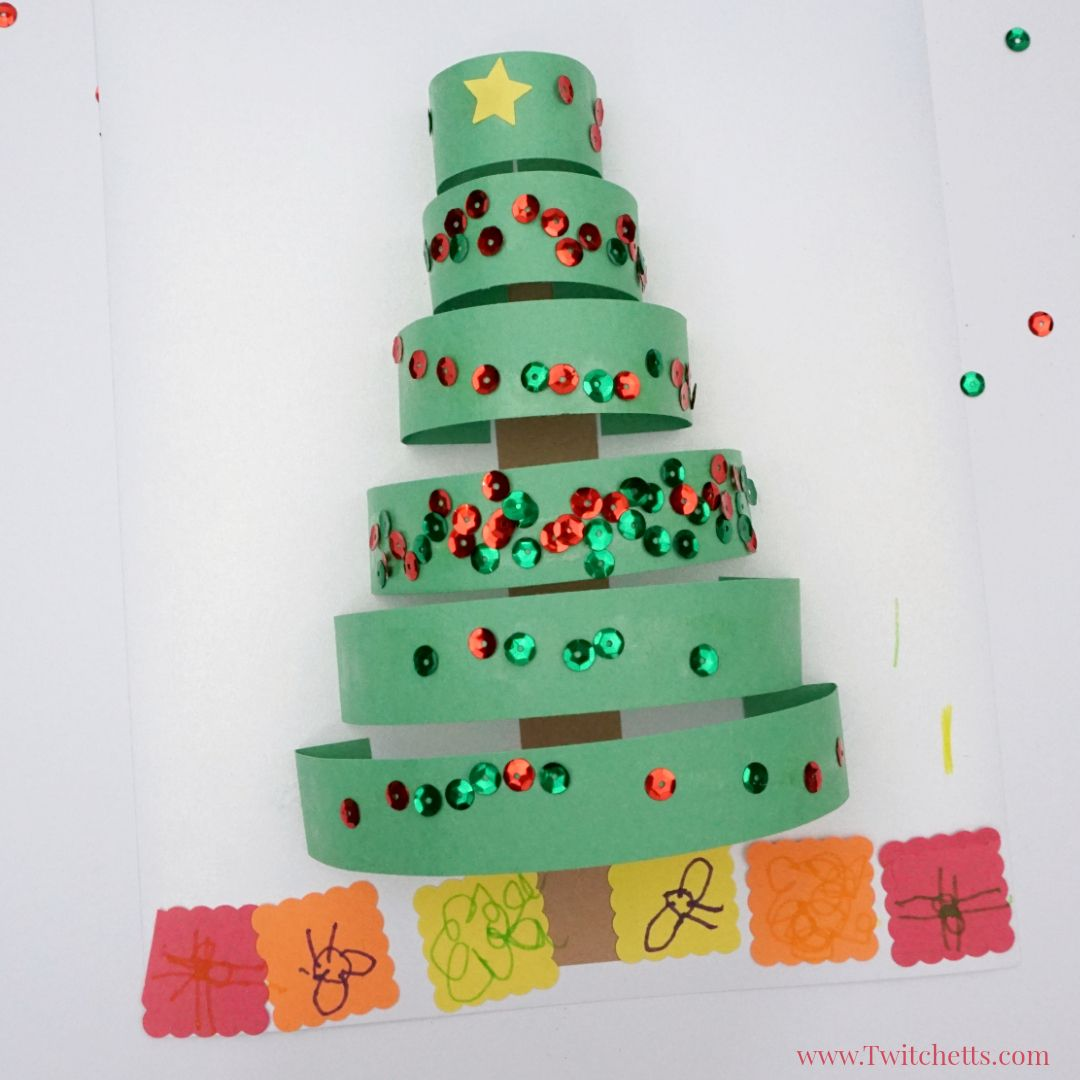 How To Make A Fun 3d Paper Christmas Tree Craft With Construction Paper Twitchetts Construction Paper Crafts Xmas Crafts Paper Christmas Tree