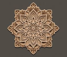 Multilayer mandala SVG template 3D Layered Vector cutting file for Laser cut Cricut Glowforge CNC router dxf ai eps dwg cdr
