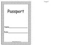 Pretend passport template for kids a printable student for Fun passport template