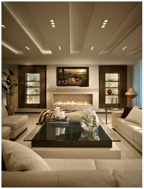 Cozy Modern Living Room With Fireplace 80 ideas for contemporary living room designs   fireplace wall