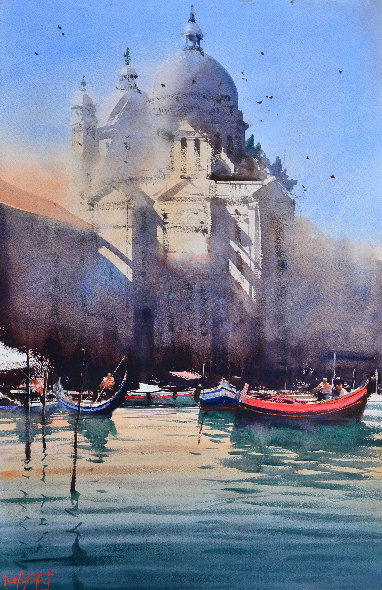 Santa Maria Della Salute By Alvaro Castagnet Watercolor Jd