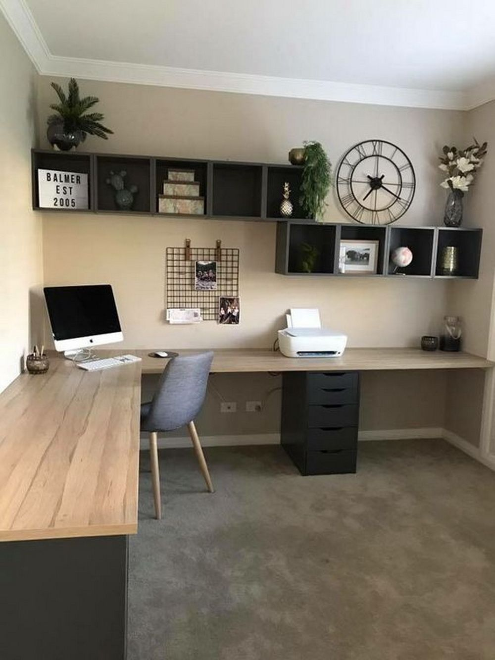 25 Modern Home Decoration Ideas With Simple Office Room In 2020