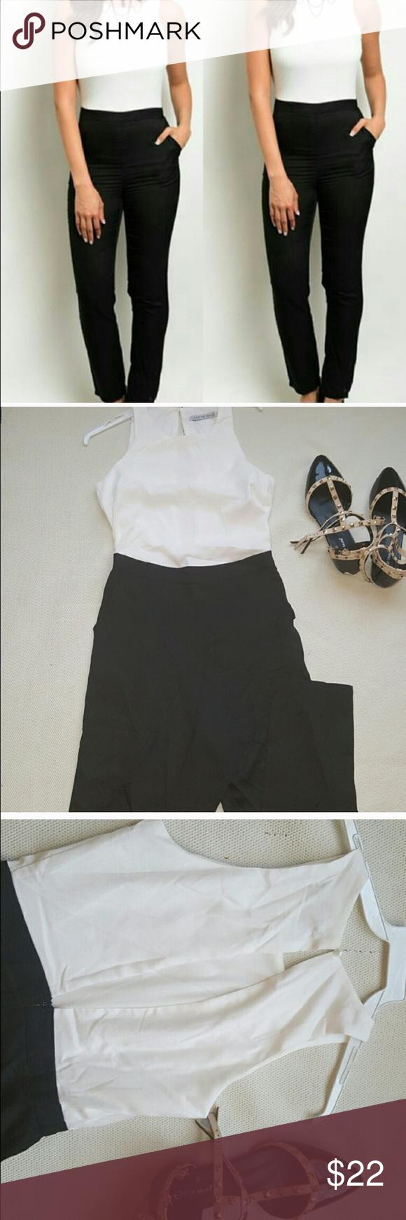 Black And White Jumpsuit Black White Jumpsuit Classy Jumpsuit