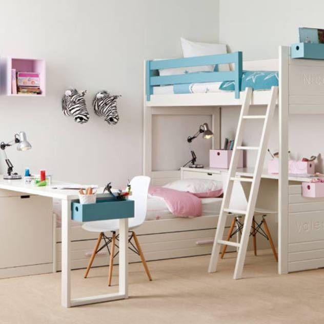 Habitaci n infantil con cama nido y litera dormitorios - Habitacion infantil cama nido ...