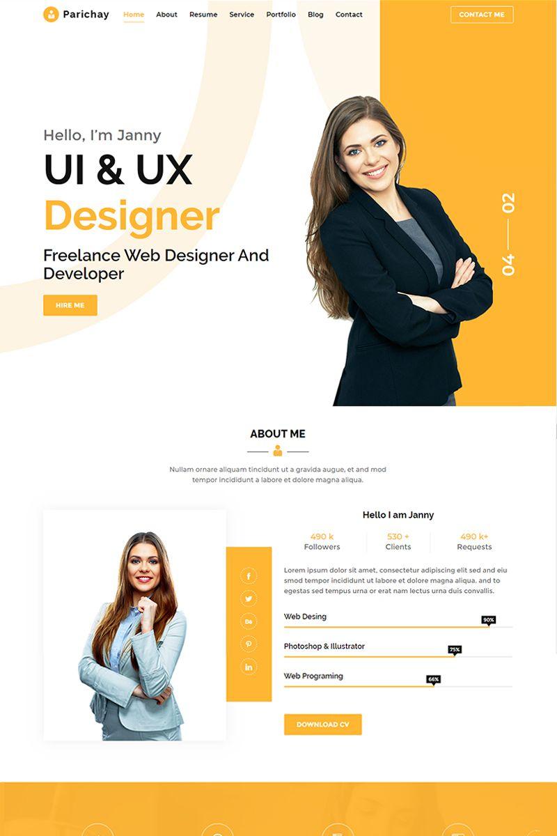 Parichay Portfolio Landing Page Template 90515 Portfolio Web Design Freelance Web Design Portfolio Website Design