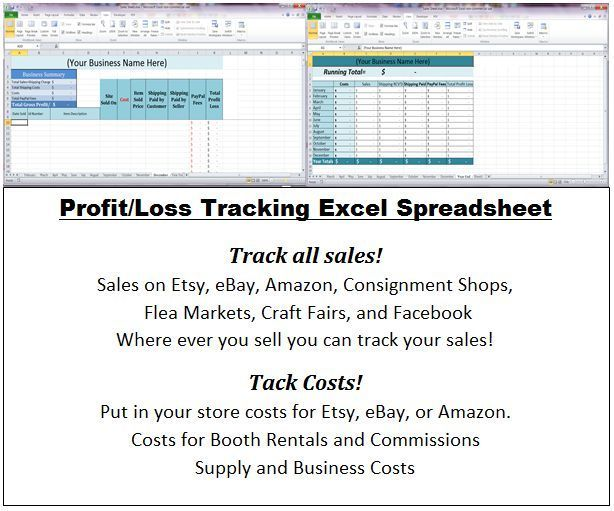 Excel Business Profit And Loss Statement Spreadsheets Cash Flow