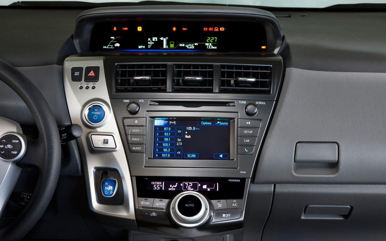 2012 Toyota Prius V Audio Controls Toyota Venza Toyota Prius