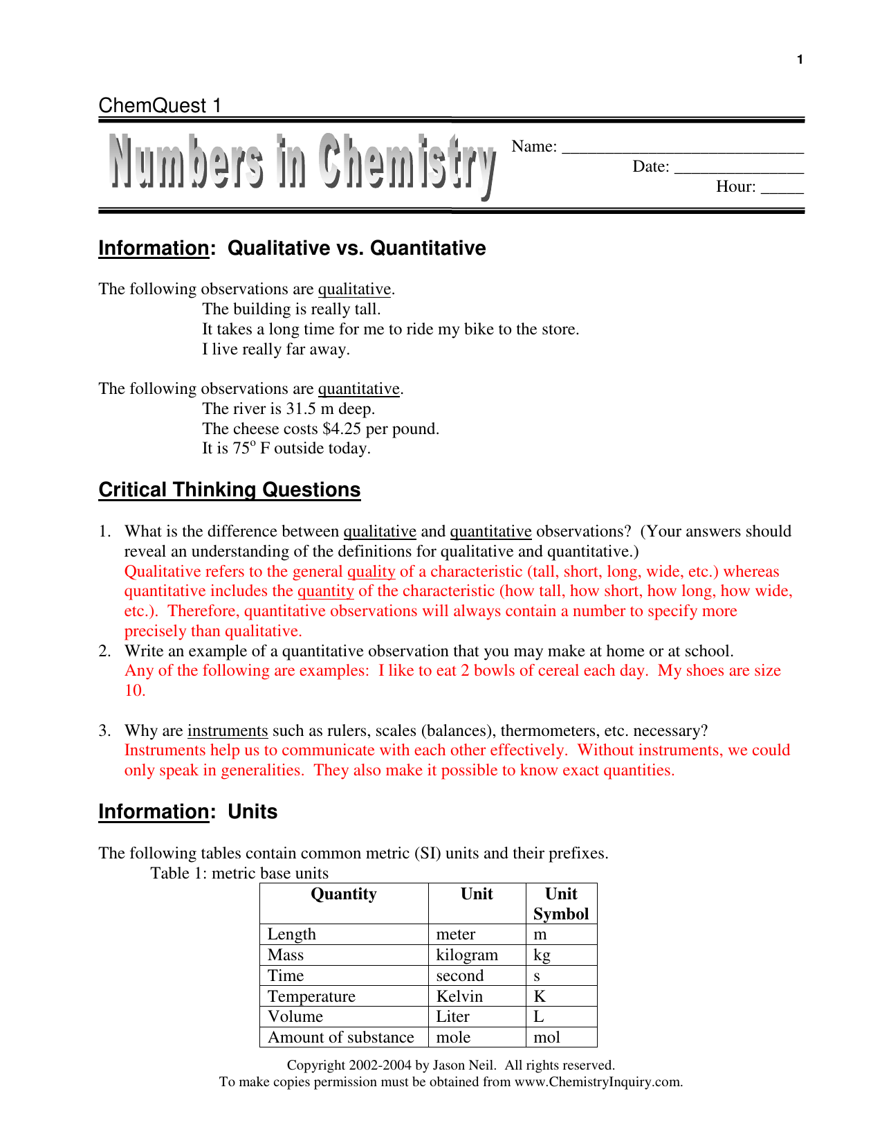 Electron Configurations And The Periodic Table Chemquest ...