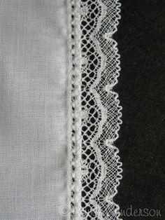 how to pin stitch, but how to roll, whip and appy lace in one easy step!