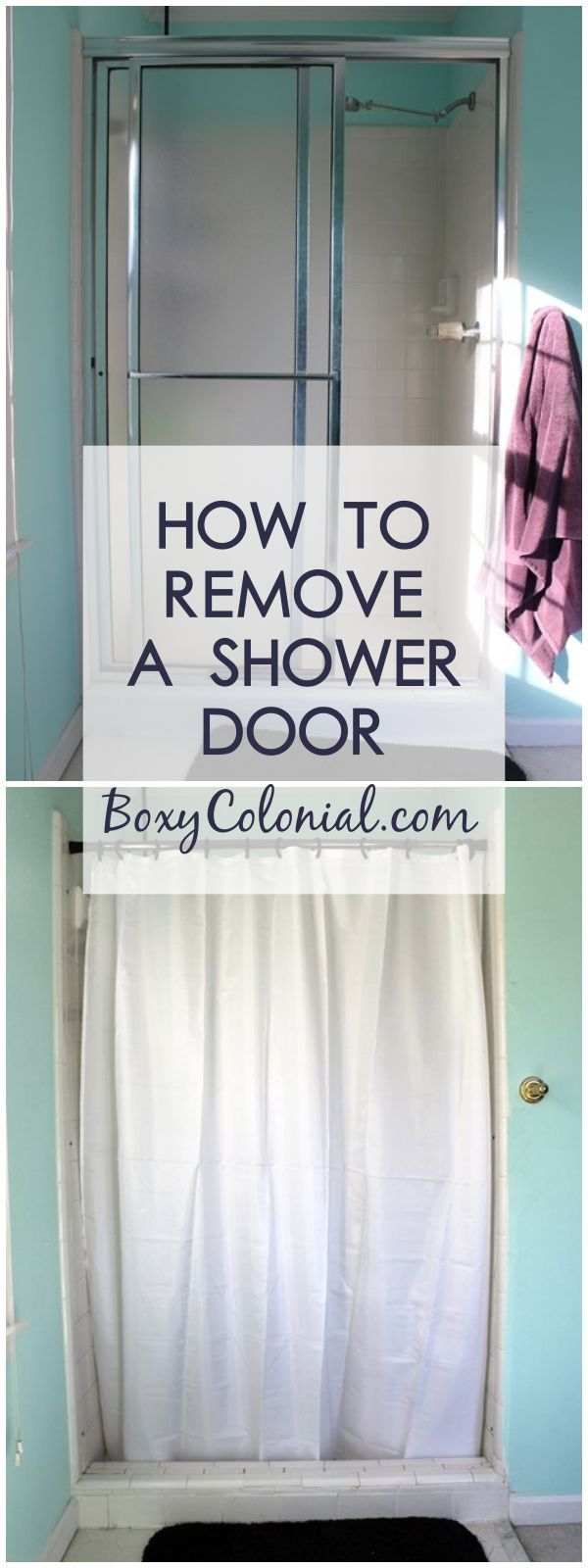 Removing The Shower Door Breaking Ground In The Master Bathroom