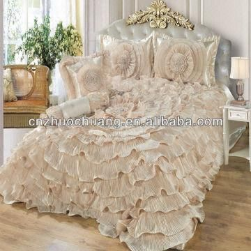 Luxury Satin Wedding Bedding Set Bridal Comforter